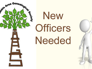New Officers Needed
