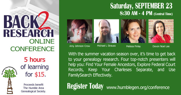 Back 2 Research eConference and Fundraiser