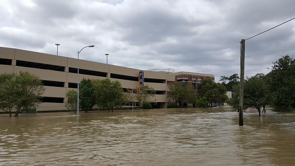 Hurricane Harvey flood waters in Kingwood
