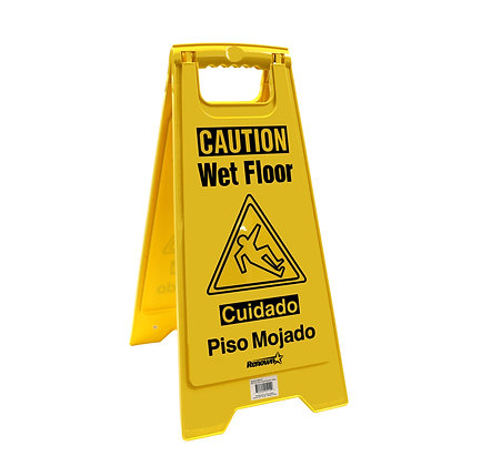 Renown Two-Sided Caution Wet Floor Sign