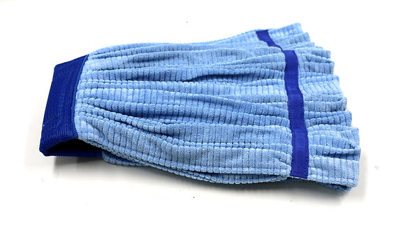 Microfiber Blue Tube Mop 21 oz. with Sewn Tail Band