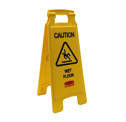 Rubbermaid Two-Sided Caution Wet Floor Sign