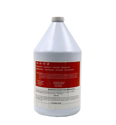 D-S-V-D - Disinfectant, Sanitizer, Virucide, & Deodorizer