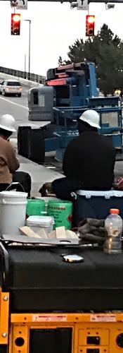 Crew setting up