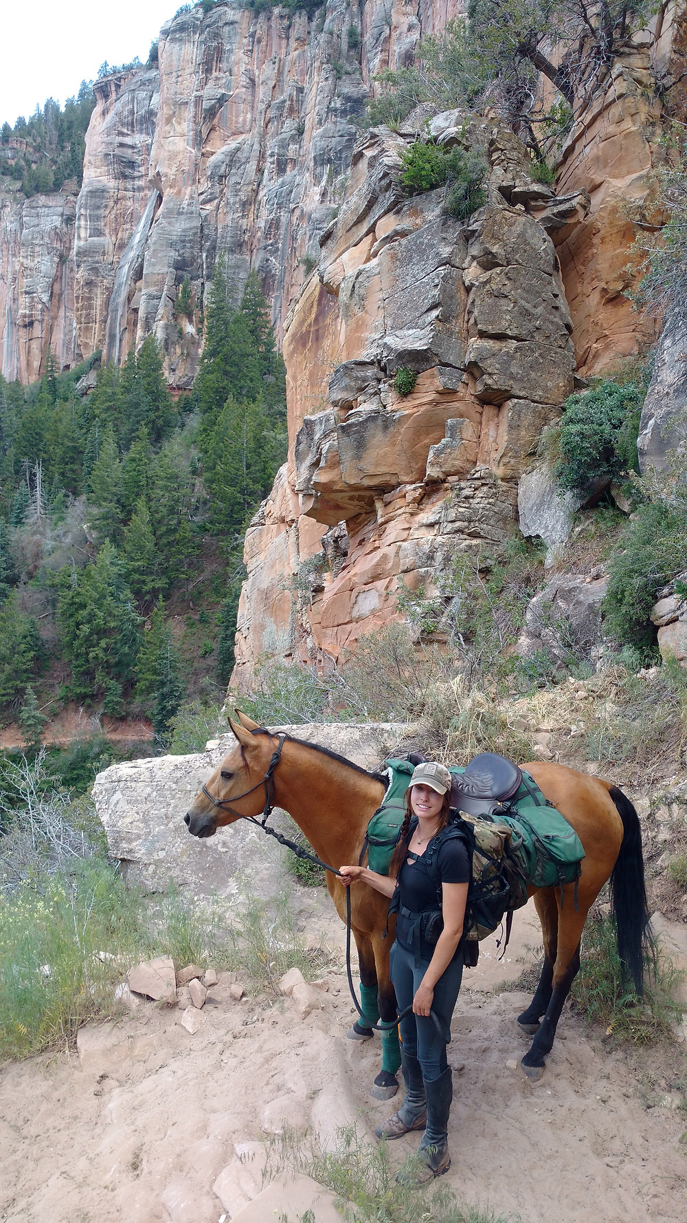 Gillian and Shyla on North Kaibab