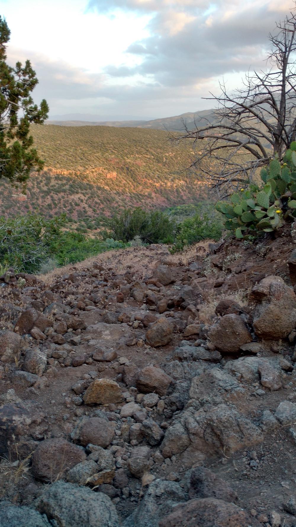 Lava rocks on the AZT
