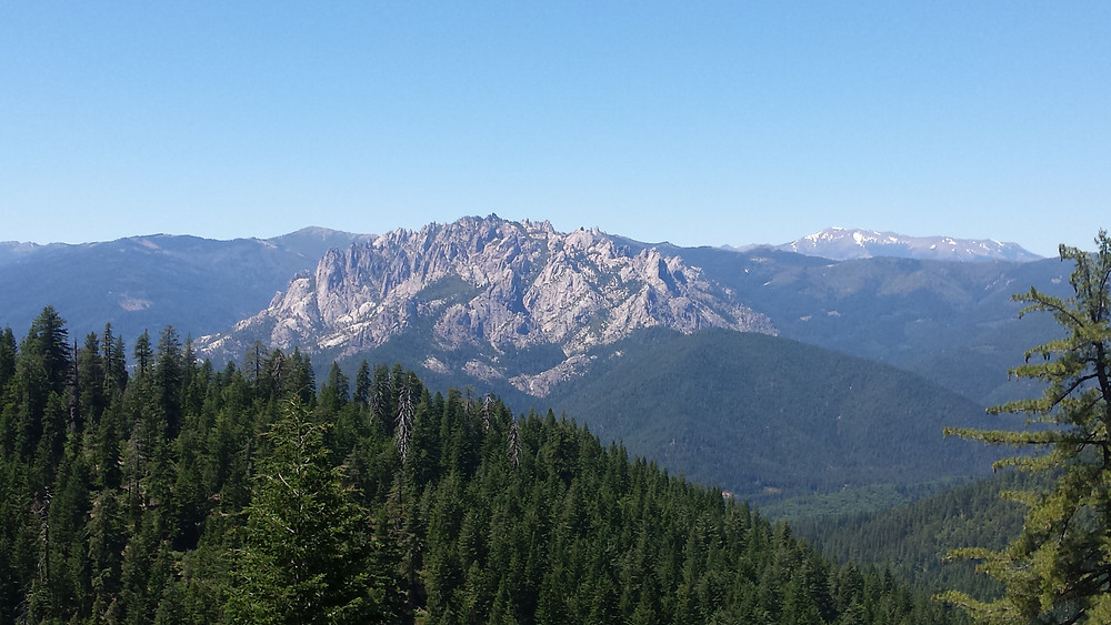 Looking north to Castle Crags
