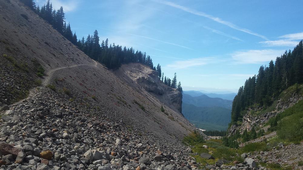 South along the slopes of Mt. Hood