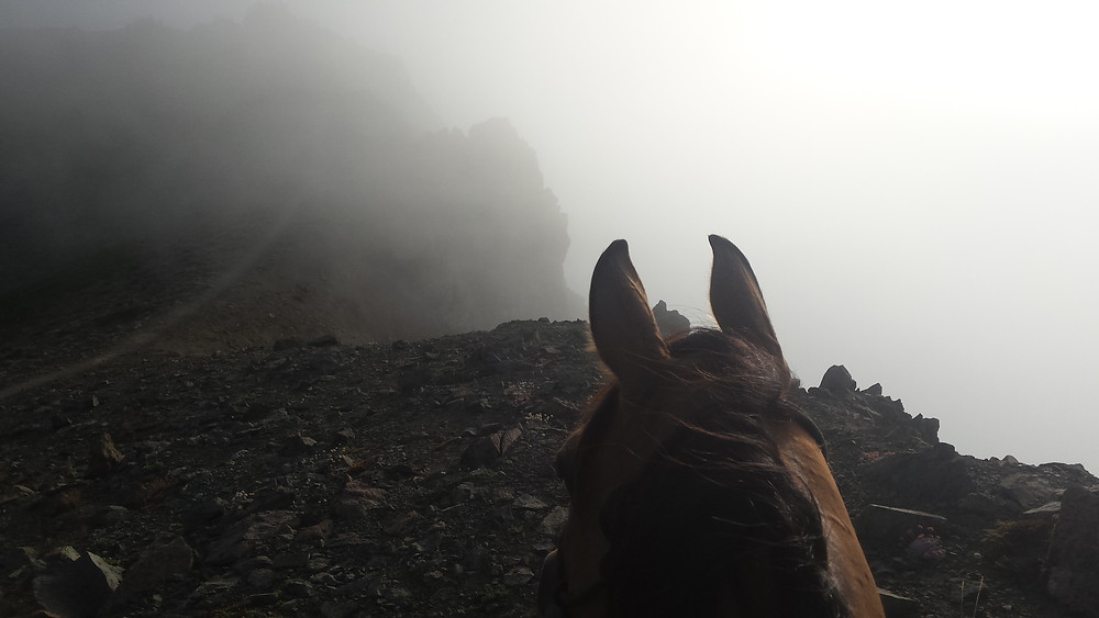 in the clouds through Goat Rocks