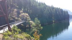 Trail Bridge along Ross Lake