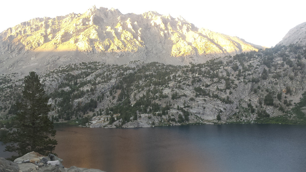 Upper Rae Lake just before dark