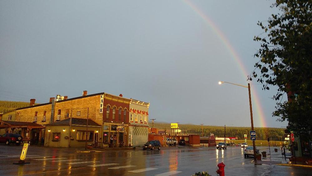 rainbow over Leadville, CO