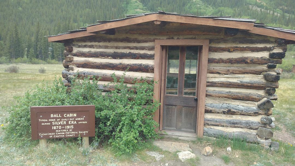 A typical cabin from the ghost town of Winfield