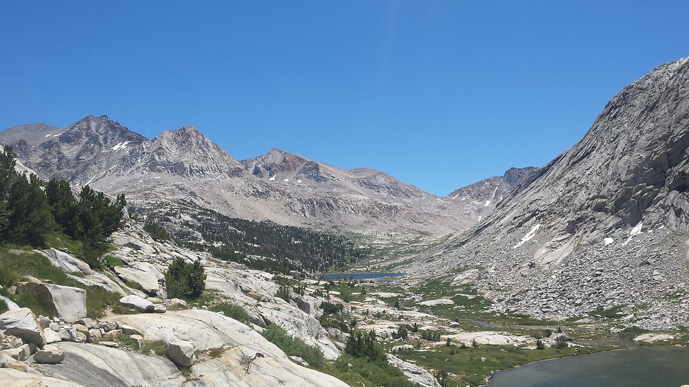looking back at Mather Pass