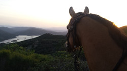 as the sun sets near Lake Hughes