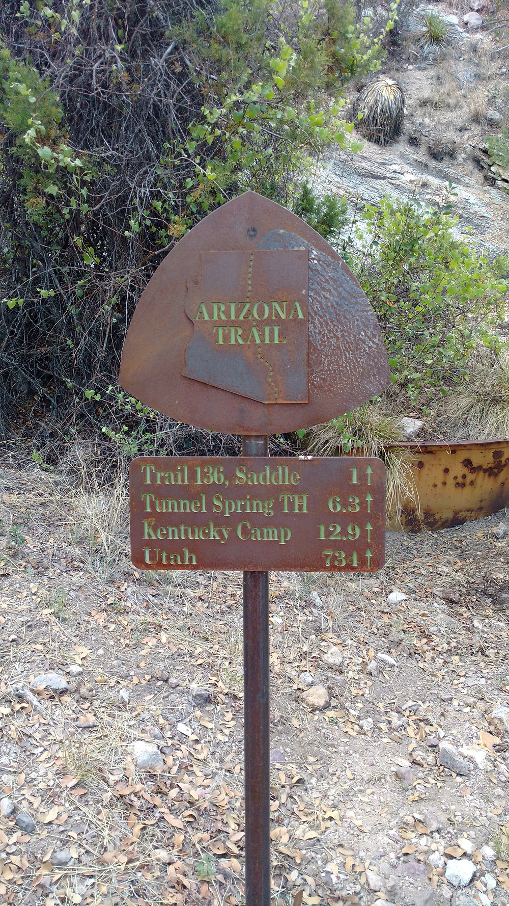 AZT trail sign