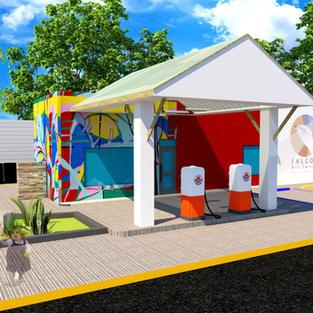 Future Falcon Art Center Foundation -3-d rendering - day time- future - Del Rio, Texas, U.S.A.
