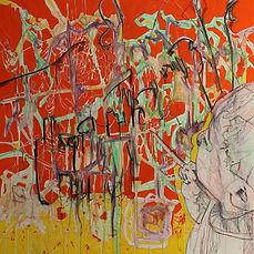 Child Artist Painting(2020)55 x 55x 3.JP