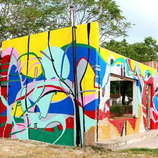 Mural: Handmade 100 Percent- Year/2020-Del Rio, Texas, U.S.A.