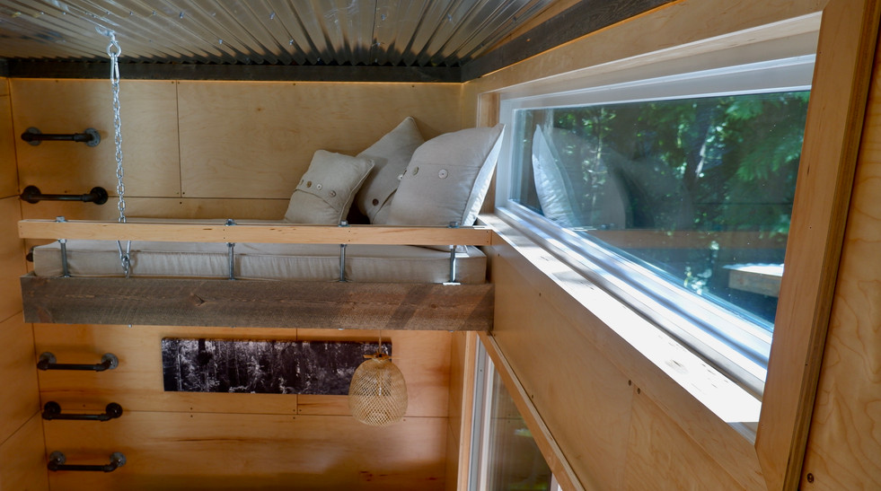 View of the bunk from the sleeping loft