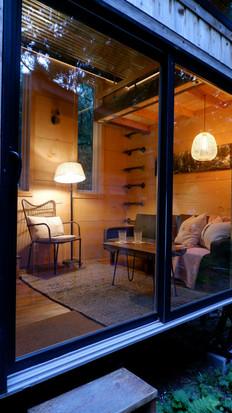 Exterior Living Room (night)
