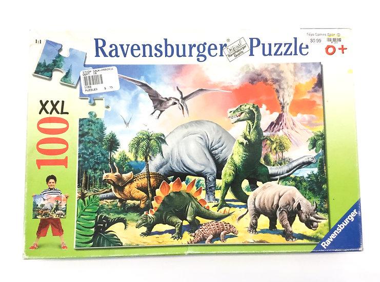 P-060 Ravensburger Dinosaur 100 piece XXL Puzzle