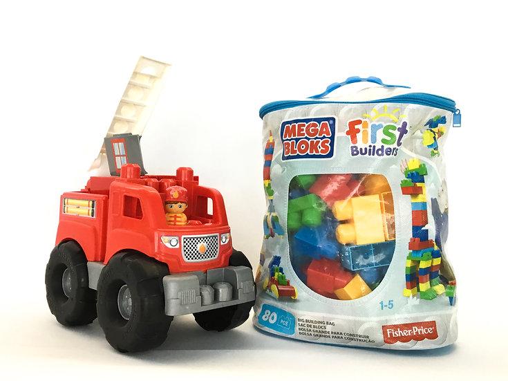 L-016 Mega Blocks with Firetruck