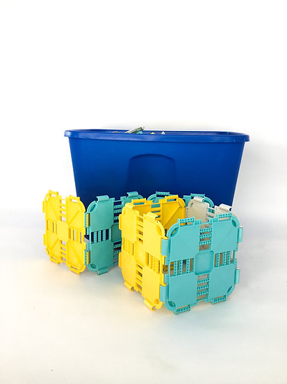 L-011 Fort Boards Grid Blocks (Blue, Yellow, White)
