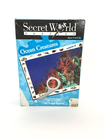 P-011 Secret World Puzzles Ocean Creatures 100 Pieces
