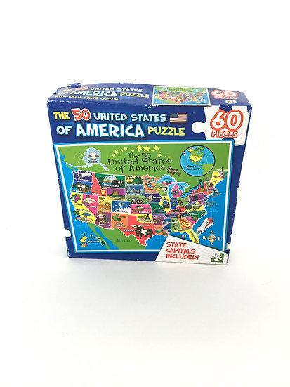 P-024 50 United States of America Puzzle (60 pieces)