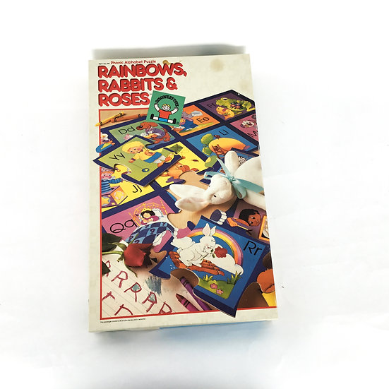 P-074 Rainbows, Rabbits & Roses Alphabet Puzzle