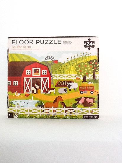 P-001 - Petit Collage on the Farm Floor Puzzle