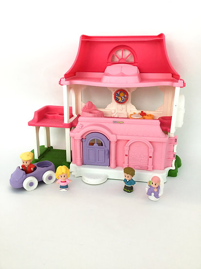 D-002 Little People Pink Mansion Doll House