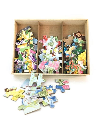 P-027 Multiple Disney Puzzles in Wood Box