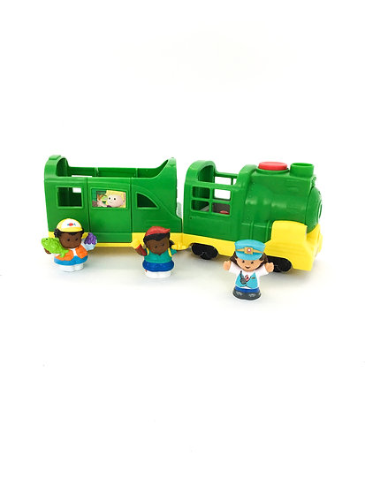 D-010 Fisher Price Train Set with Passengers