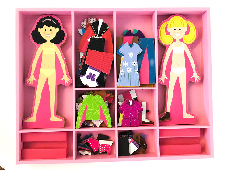 D-019 Magnetic Dress Up Dolls