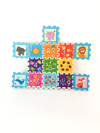 P-018 Numbered Foam Puzzles w/ Animals & Objects