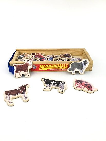 D-012 Magnanimals Magnetic Wooden Animals