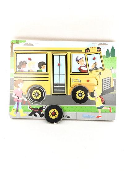 P- 038 Melissa + Doug School Bus Puzzle
