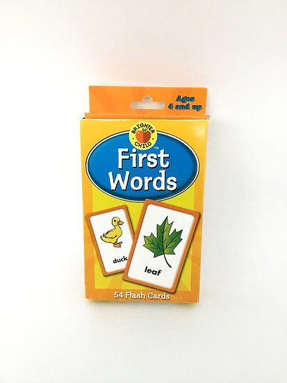 G-056 Brighter Child First Words Flash Cards