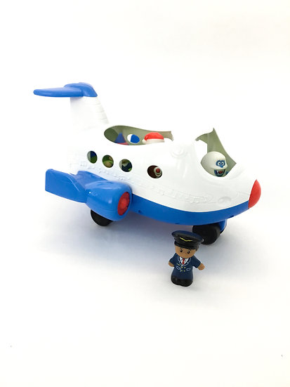B-059 Little People Airplane with Music Notes