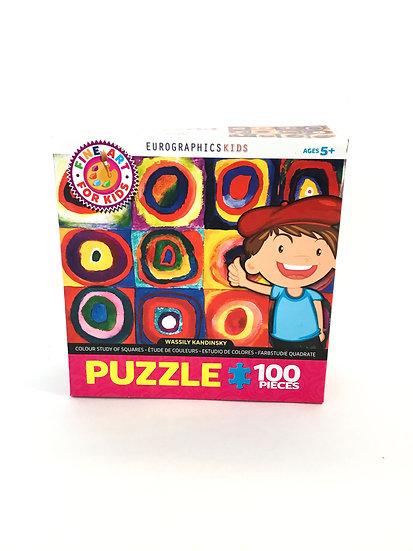 P-014 Eurographics Kids Color Study of Squares 100 Pieces
