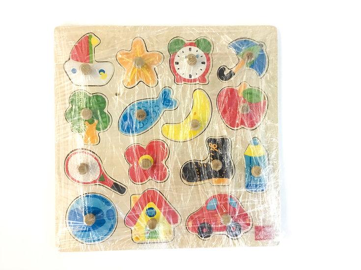 P-047 Wooden 1st Shapes Puzzle