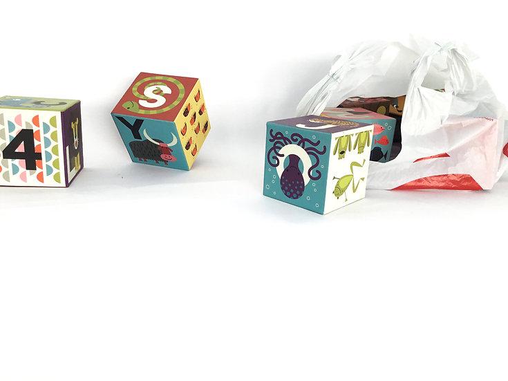 L-022 Cardboard Animal Blocks