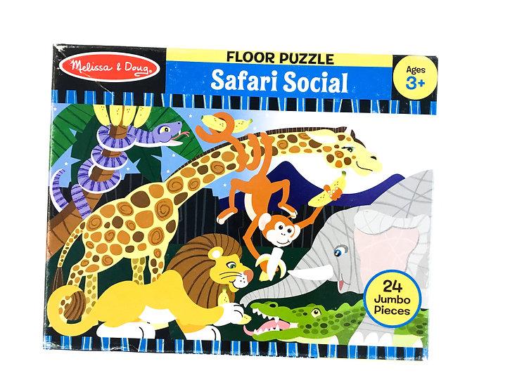P-057 Melissa & Doug: Safari Social Hour Puzzle - 24 piece jumbo