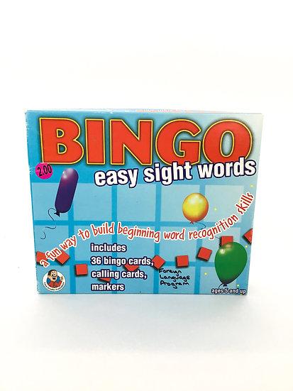 G-050 Bingo Easy Sight Words