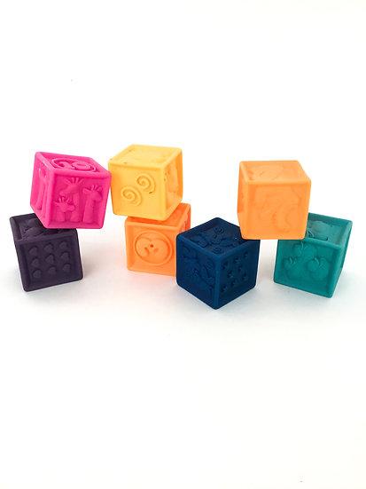 B-063 Numbered Animal Squishy Blocks