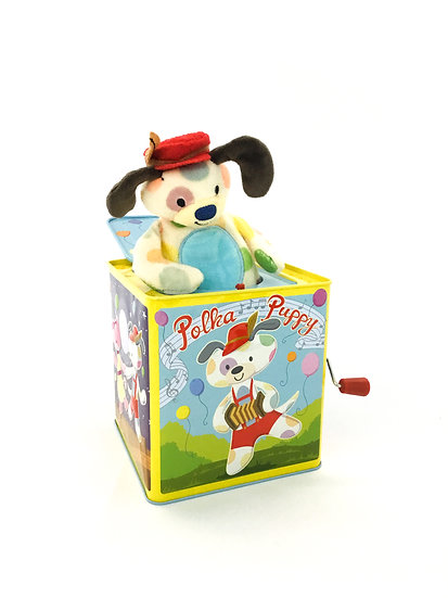 B-055 Polk Puppy Jack in the Box