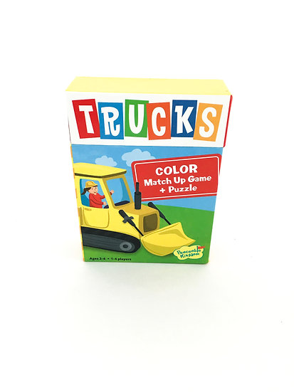 G-027 TRUCKS: Color Match Up Game and Puzzle