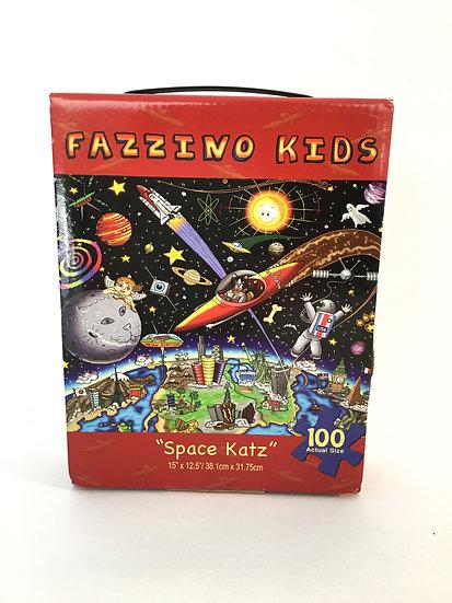 "P-007 Fazzino Kids ""Space Katz"" 100 Piece Puzzle"